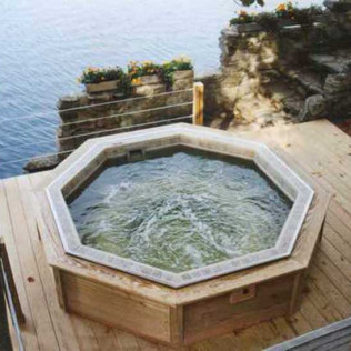 outdoor hot tub installation big sky mt